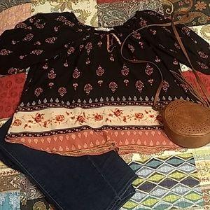 Liberty Love Cold Shoulder blouse 2X